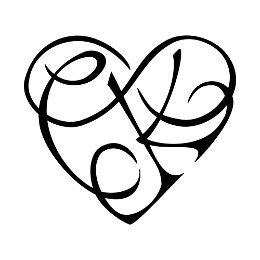 C+K infinity heart tattoo