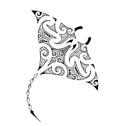 WATER: Maori manta tattoo