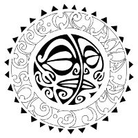 Sunmoon maorigrams tattoo