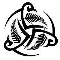 Triskell and ferns tribal tattoo