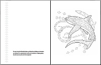 Polynesian Tattoos coloring book - sample pages