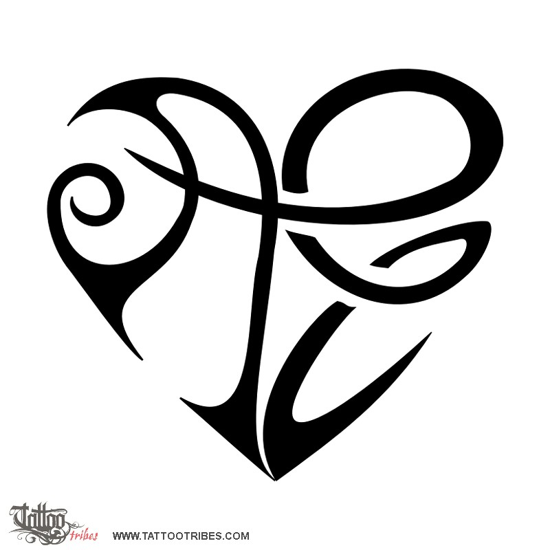 Heart Tattoo Designs With Letters ae Heart Tattoo Letter s Heart
