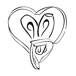 Ballet shoes heart tattoo