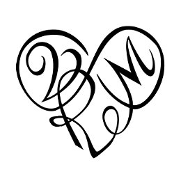 V+R+M infinity heart tattoo