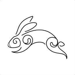 Stylish rabbit tattoo