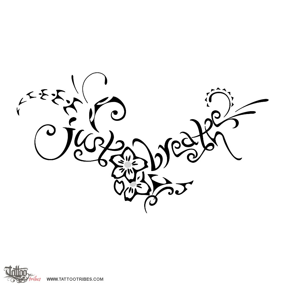 Tattoo of Just breathe, Beauty, life tattoo - custom tattoo designs ...