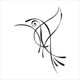 Zen Hummingbird tattoo