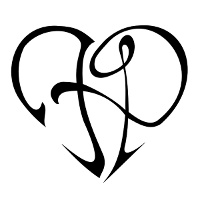 F+P heart tattoo