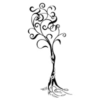 Family tree tribal tattoo
