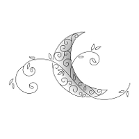 Delicate moon tattoo