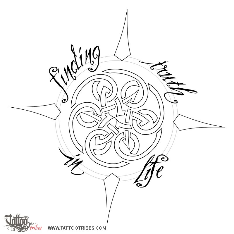 Tattoo of compass finding truth tattoo custom tattoo for Tattoo bussola significato