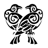 Huginn and Muninn ravens tattoo