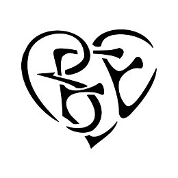 B+E+E heart shaped tattoo