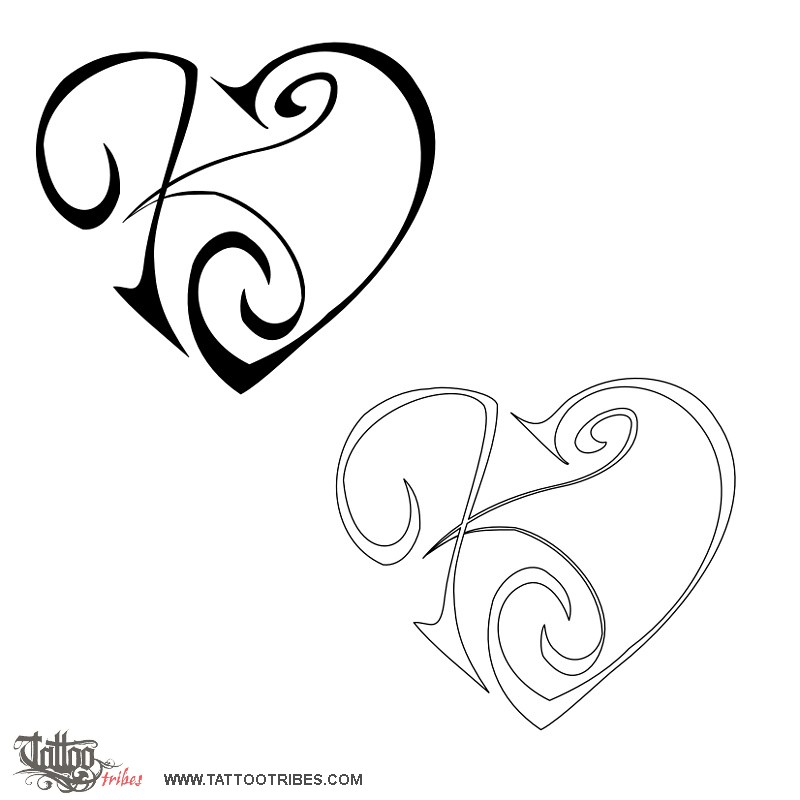 tattoo of k j heart union affection tattoo custom tattoo designs on. Black Bedroom Furniture Sets. Home Design Ideas