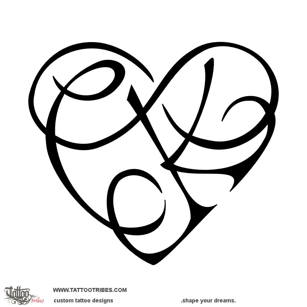Children Flowers Hip Tattoo C K Infinity Heart