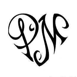 P+M heart tattoo
