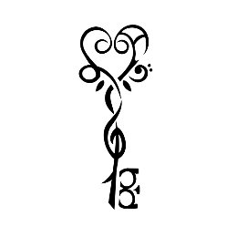 L+A music key tattoo