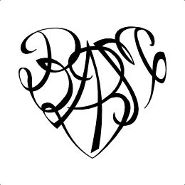 B+A+B+M heart tattoo