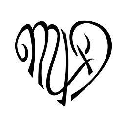 M+A+D heart tattoo
