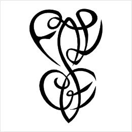 F+L C+E infinity hearts tattoo