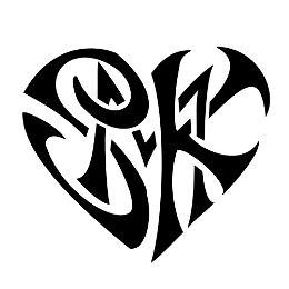 S+M+K heartigram tattoo