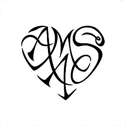 A+M+A+S heart tattoo