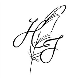 H+J feather tattoo