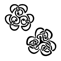 Triskell shamrock tattoos