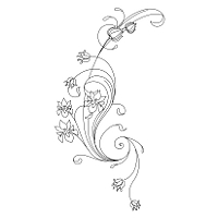 Art Nouveau flowers tattoo