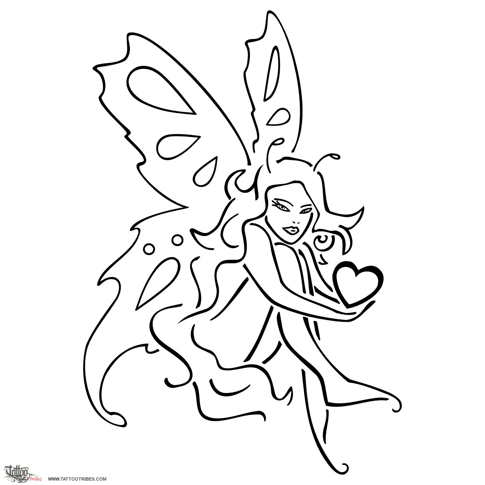 Tattoo Of Butterfly Fairy, Pure Love Tattoo
