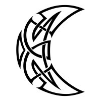 Celtic moon tribal tattoo