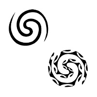 Balance double spiral tattoo
