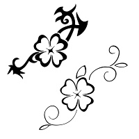 Good luck 4-leaf clover tattoo