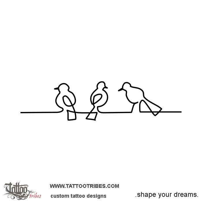 Tattoo of Three little birds, Good vibes tattoo - custom tattoo