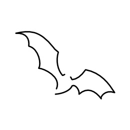 Minimalistic bat tattoo