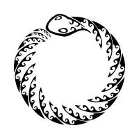 Ouroboros - Snake biting his tail tattoo