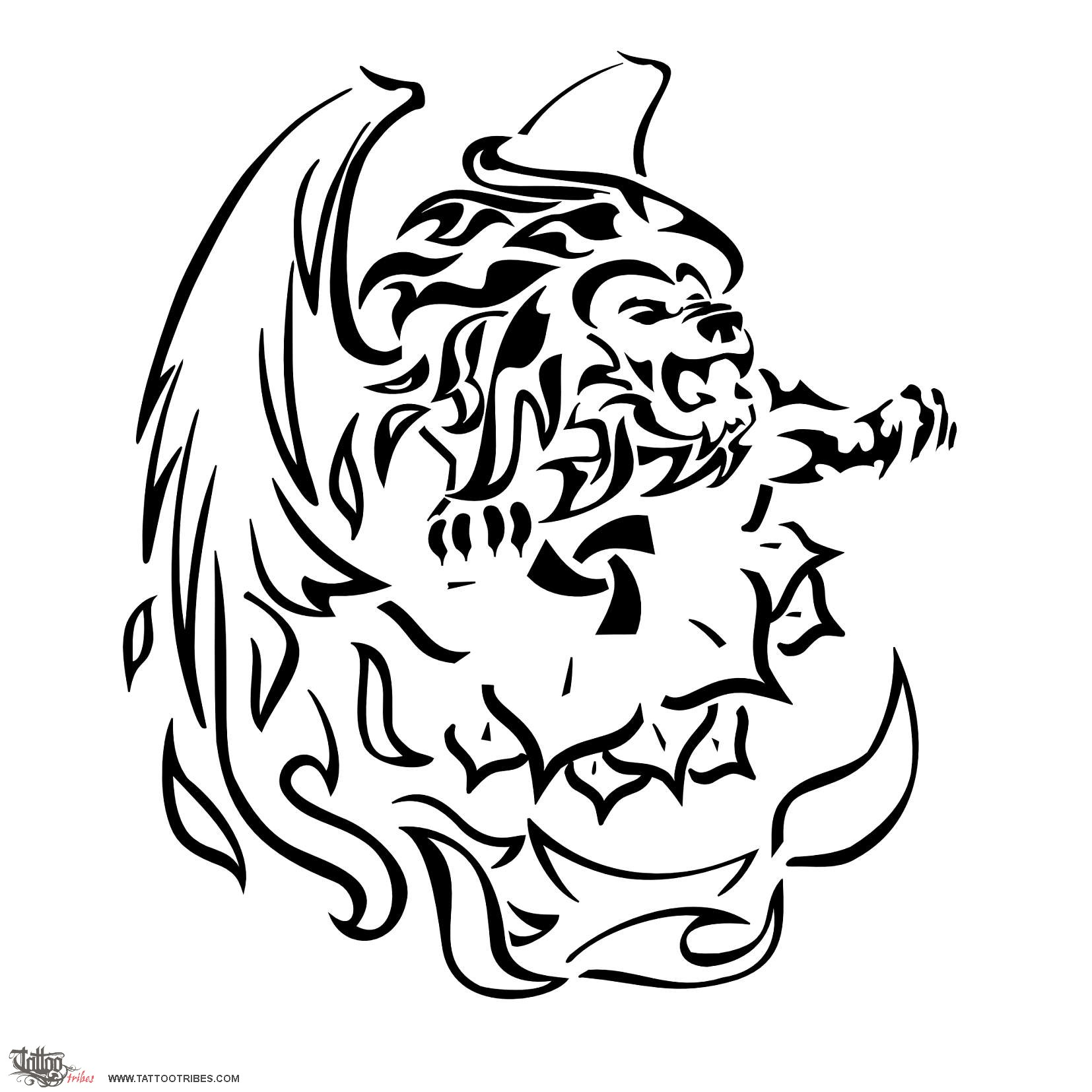 Populaire Tattoo of Fire lion, Perfect strength tattoo - custom tattoo  CC21