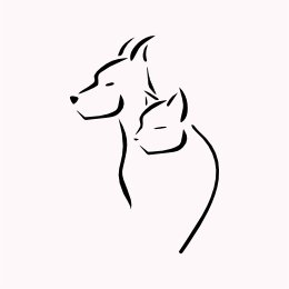 minimal cat and dog tattoo