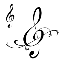Treble clefs tattoos