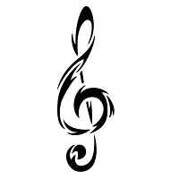 Music - tribal clef tattoo