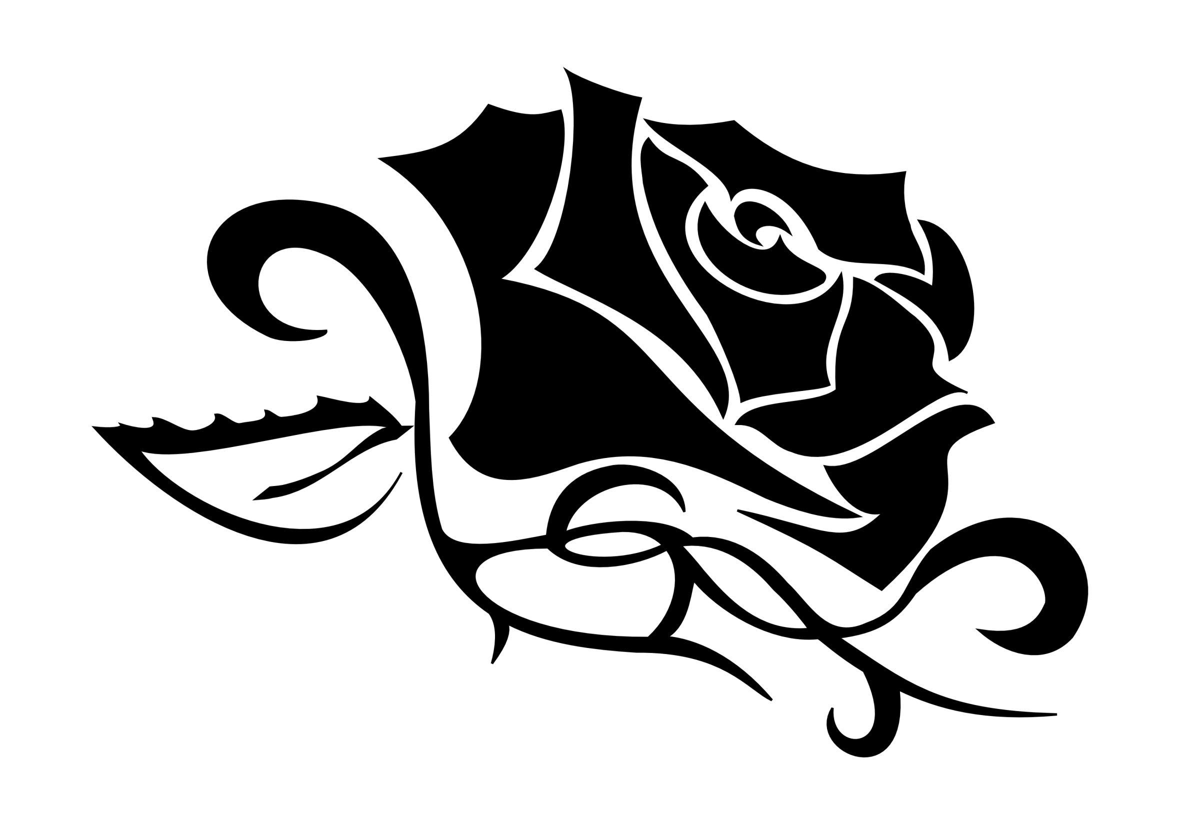 Tribal Rose Tattoo Designs for Women
