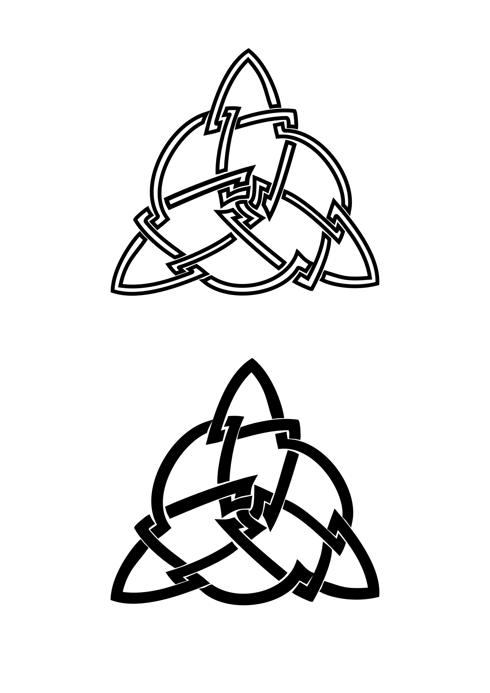 Triquetra Celtic Knot Tattoos