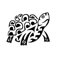 Land turtle tribal tattoo