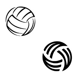Stylized volley ball tattoo