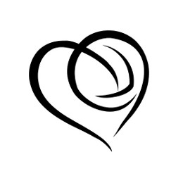 Volleyball heart tattoo