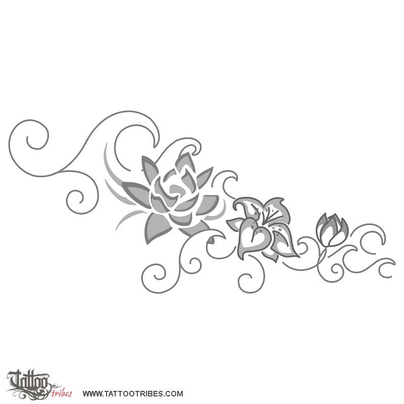 Fiori Stilizzati Tattoo Wwwp1qeu Funny Pics