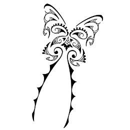 AIR - Maori butterfly tattoo 2