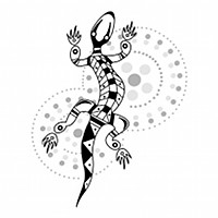 Aboriginal gecko tattoo