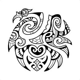 Maori tiger head tattoo