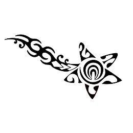 Tribal comet tattoo